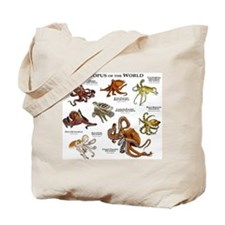 Octopus of the World Tote Bag