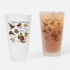 Octopus of the World Drinking Glass
