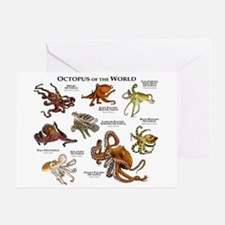 Octopus of the World Greeting Card