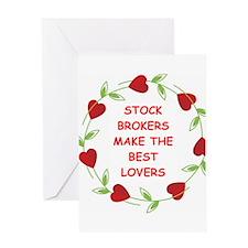 stock brokers Greeting Card