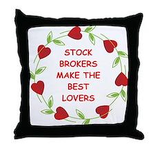stock brokers Throw Pillow