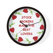 stock brokers Wall Clock