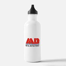 MD - Metal Detectorist Water Bottle