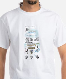 Shirt with Cloud Computing Graphics, B&amp