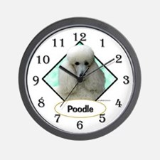 Poodle 4 Wall Clock