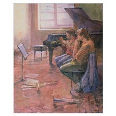 The Trumpet Lesson, 1998 (oil on canvas) Framed Print