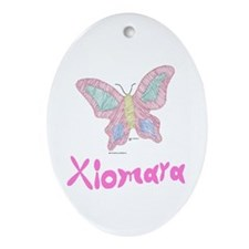 Pink Butterfly Xiomara Oval Ornament