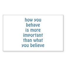 Behave / Believe Decal
