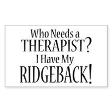 THERAPIST Ridgeback Decal