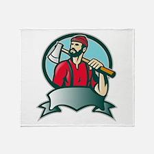 lumberjack woodcutter Throw Blanket