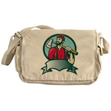 lumberjack woodcutter Messenger Bag