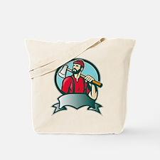 lumberjack woodcutter Tote Bag