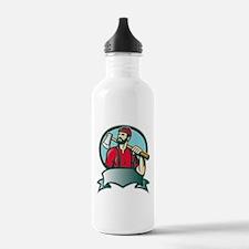 lumberjack woodcutter Water Bottle