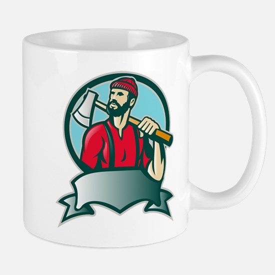 lumberjack woodcutter Mug