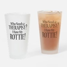 THERAPIST Rottie Drinking Glass