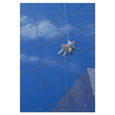 Window Cleaner, 1990 (acrylic on paper) Poster