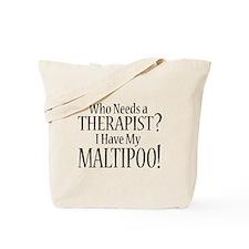 THERAPIST Maltipoo Tote Bag