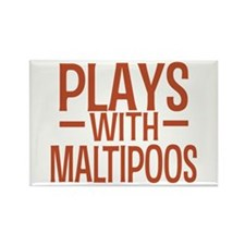 PLAYS Maltipoos Rectangle Magnet