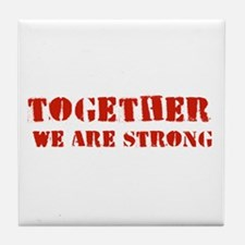 Strength in Numbers Tile Coaster