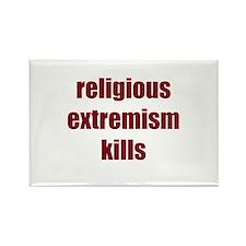 Religion Kills Rectangle Magnet
