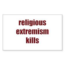 Religion Kills Decal