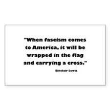 When Fascism Comes Decal