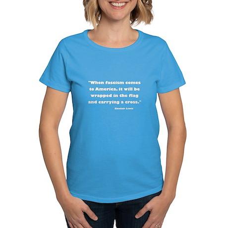 When Fascism Comes Women's Dark T-Shirt
