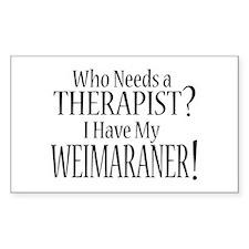 THERAPIST Weimaraner Decal