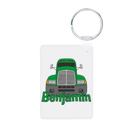 Trucker Benjamin Aluminum Photo Keychain