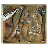 Jazz music Wrapped Canvas Art