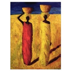 Calabash Girls, 1991 (oil on canvas) Framed Print