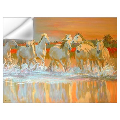 Camargue (oil on board) Wall Decal