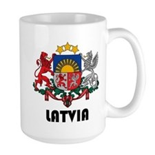 Latvia Coat of Arms Mugs