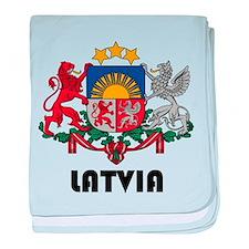 Cute Latvia baby blanket