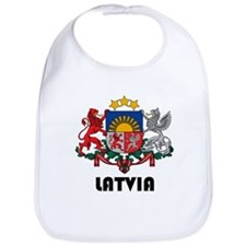 Cute Latvia Bib