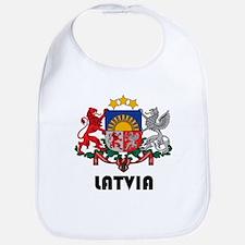 Cute Latvia Bib