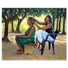 The Hairdresser, 2001 (oil on canvas) Poster