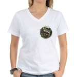 Baby Raccoon Women's V-Neck T-Shirt