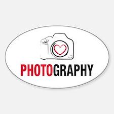 Love Photography Sticker (Oval)