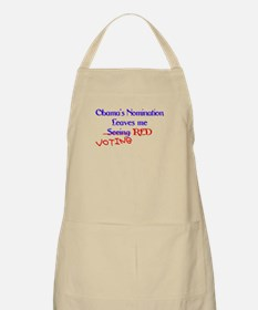 Voting red BBQ Apron