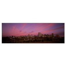 Canada, Alberta, Edmonton, City at dawn from Mutta Poster