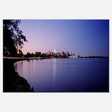 Wisconsin, Madison, Lake Monona, Buildings along a