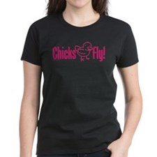 ChicksFly-Pink T-Shirt