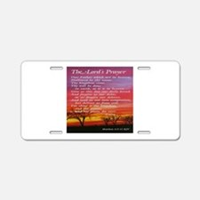 The Lord's Prayer Aluminum License Plate