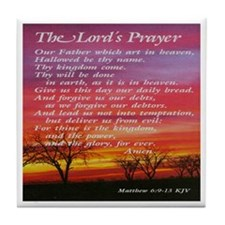The Lord's Prayer Tile Coaster