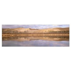 Panoramic view of a pond, Sleeping Bear Dunes, Mic Poster