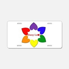 Cute Polyamory Aluminum License Plate