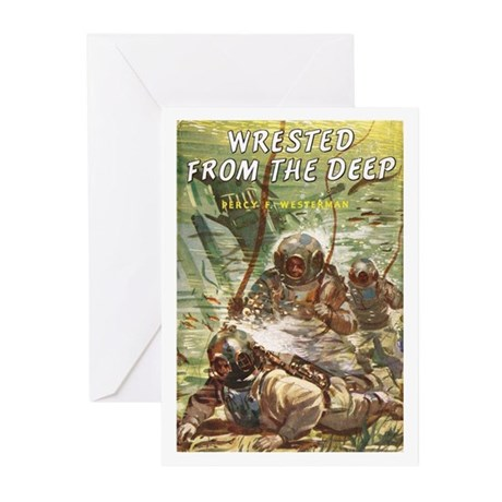 Diving Helmet Book Greeting Cards (Pk of 10)