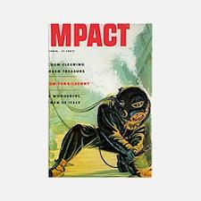 Diving Helmet Magazine Rectangle Magnet
