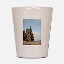 Hopewell Rocks, NS Shot Glass